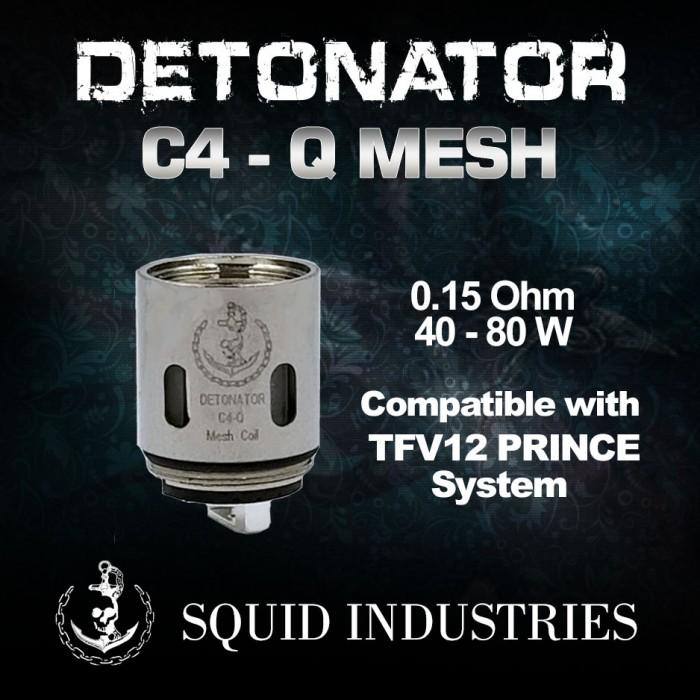 SQUID INDUSTRIES DETONATOR C4-Q 0.15 Ω Mesh Coil [ 3 pcs ]